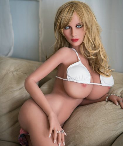 166cm Sexy Real Feel Blonde Hair Fantasy Sex Dolls - Kyra